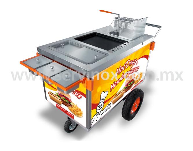Carrito Para Hot Dogs Y Hamburguesas Mod CH 100 1