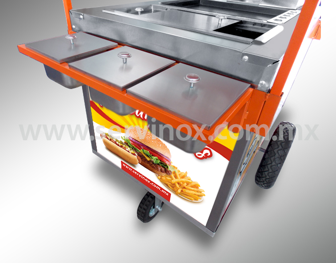 Carrito Para Hot Dogs Y Hamburguesas Mod CH 100 2