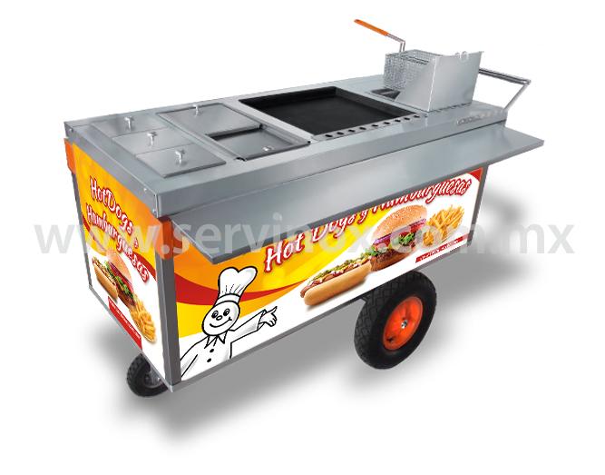 Carrito Para Hot Dogs Y Hamburguesas Mod CH 170 2