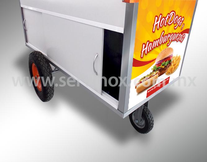 Carrito Para Hot Dogs Y Hamburguesas Mod CH 170 7