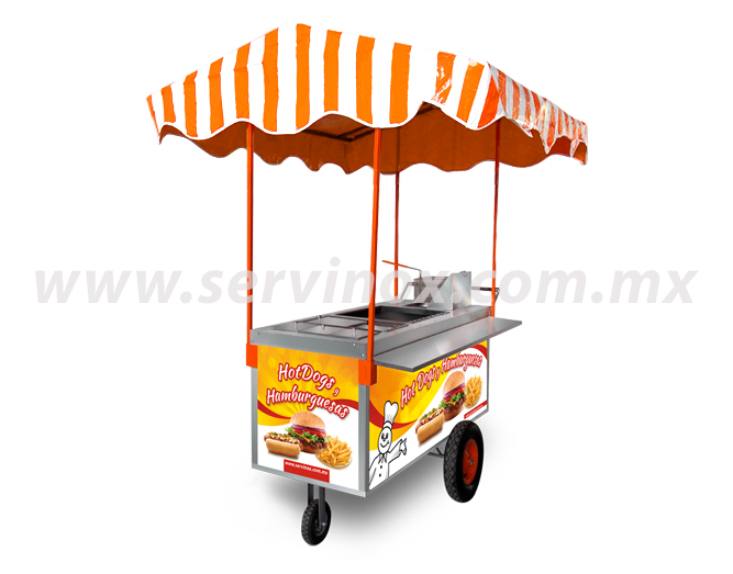 Carrito para hot dogs y hamburguesas mod ch 170 carritos for Carritos y camareras de cocina