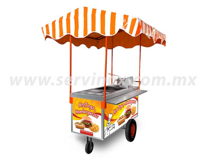 Carrito Para Hot Dogs Y Hamburguesas Mod CH 170