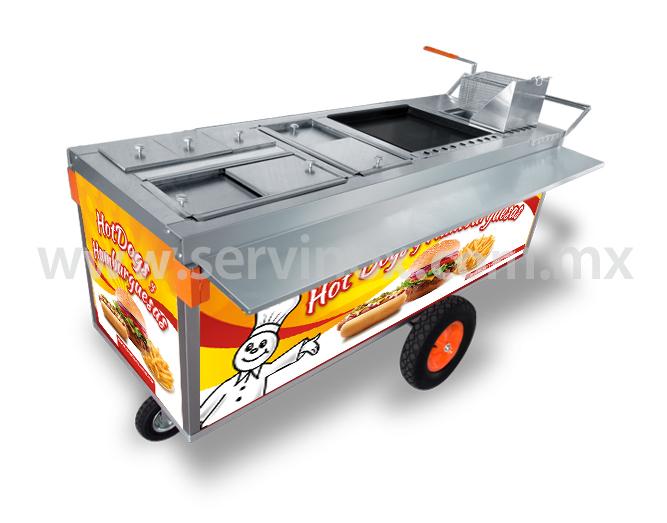 Carrito Para Hot Dogs Y Hamburguesas Mod CH 190 2