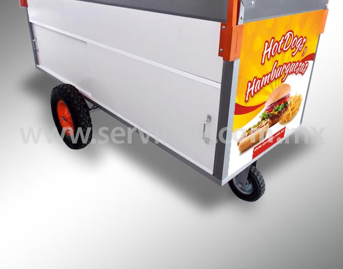 Carrito Para Hot Dogs Y Hamburguesas Mod CH 190 7