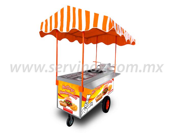 Carrito Para Hot Dogs Y Hamburguesas Mod CH 190