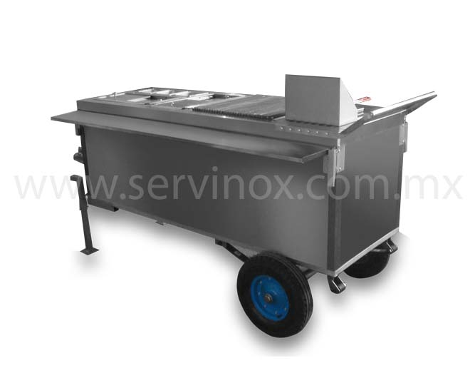Carrito para Hot Dogs Al Carbon Con Remolque y Muelles