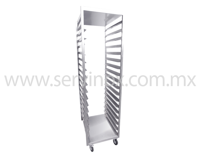 Carro Rack De Una Columna En Acero Inoxidable 2