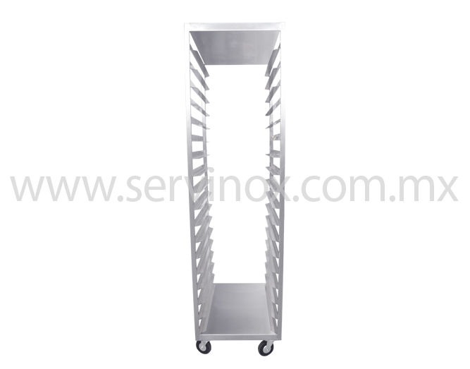 Carro Rack De Una Columna En Acero Inoxidable 3