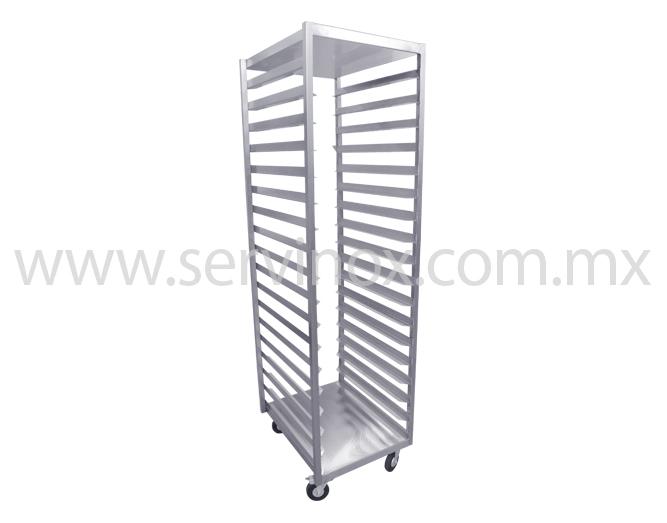 Carro Rack De Una Columna En Acero Inoxidable