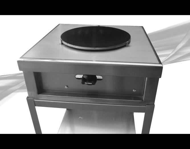Crepera A Gas Con Base En Acero Inox 2
