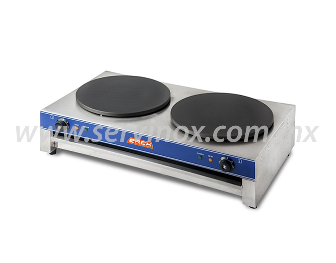 Crepera Electrica Doble Rex RCD2