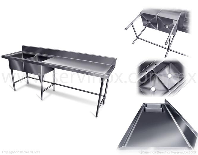 Fregaderos de doble tarja en acero inoxidable para uso rudo - Precios de fregaderos ...