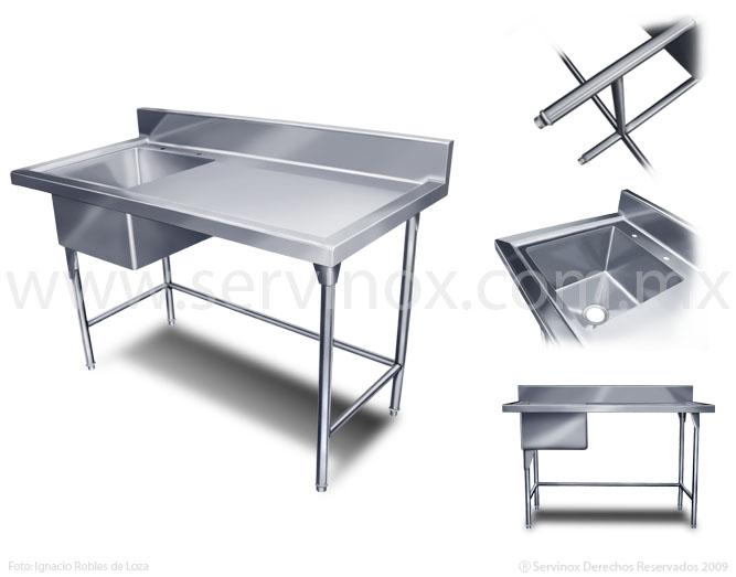 Fregaderos de una tarja en acero inoxidable cocinas - Fregaderos de acero inoxidable ...