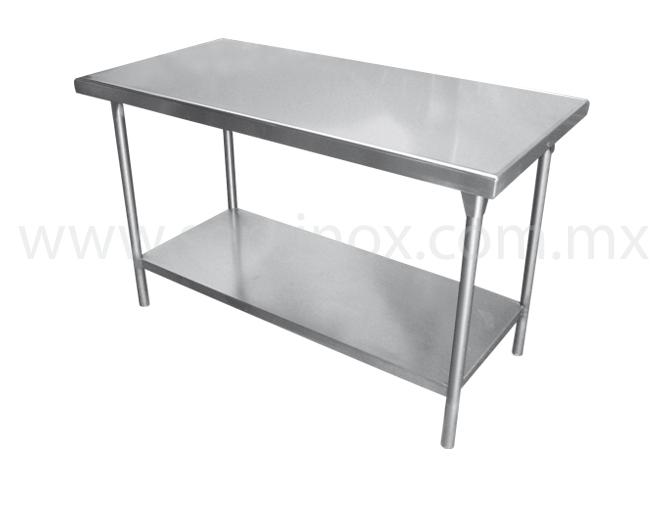 Prueba las mesas de trabajo t isla con piso en acero inoxidable - Mesa de trabajo metalica ...