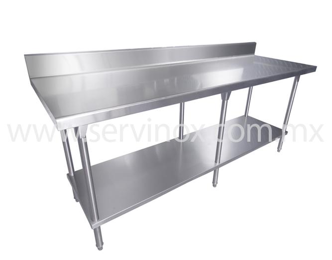 Llevate mesas de trabajo t pared con piso en acero inoxidable for Dimensiones mesa de trabajo