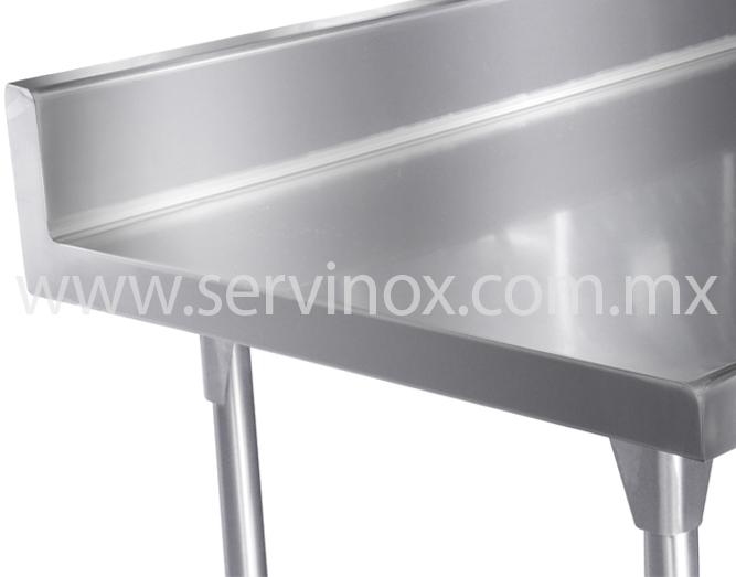 Llevate mesas de trabajo t pared con piso en acero inoxidable for Mesa de trabajo dimensiones