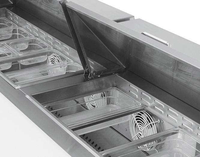 Mesa Para Preparacion de Sandwiches y Ensaladas MRS 184 3P 2