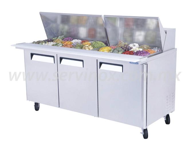 Mesa Para Preparacion de Sandwiches y Ensaladas MRS 184 3P 3