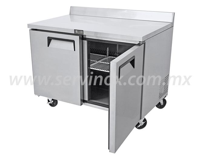 Mesa de trabajo con base refrigerada mrt 122 2p for Mesa de trabajo jardineria