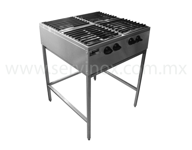 Parrilla economica para 4 quemadores for Parrilla cocina industrial