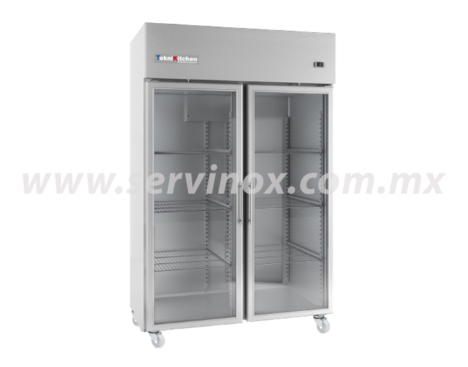 Refrigerador 2 Puertas de Cristal Teknikitchen IAG1402CR